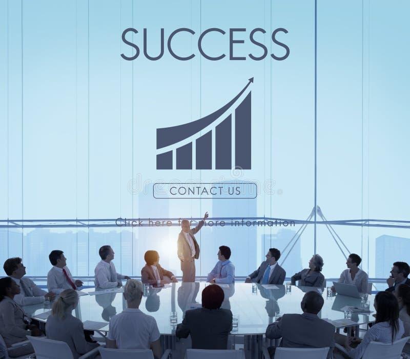 Concepto del gráfico del informe del éxito empresarial imagen de archivo libre de regalías
