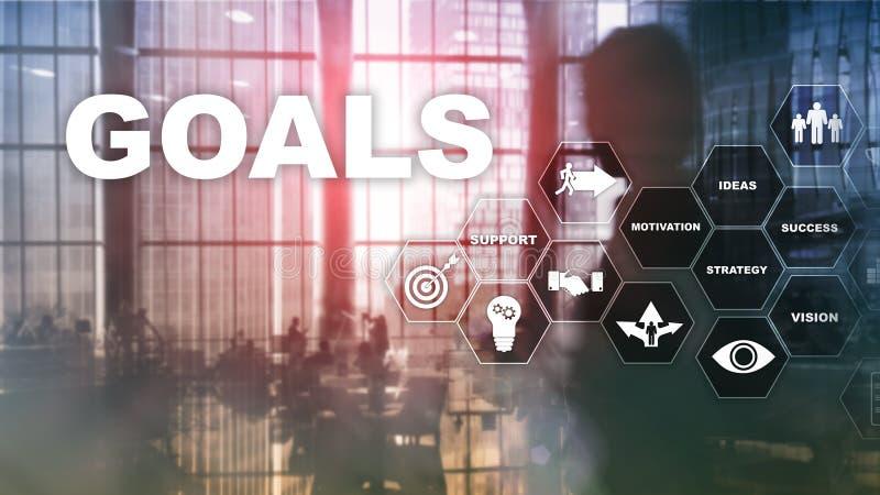 Concepto del gráfico del logro de las expectativas de las metas de la blanco Desarrollo de negocios al éxito y al crecimiento cad imágenes de archivo libres de regalías