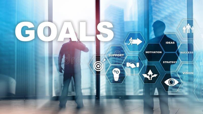 Concepto del gráfico del logro de las expectativas de las metas de la blanco Desarrollo de negocios al éxito y al crecimiento cad imagen de archivo