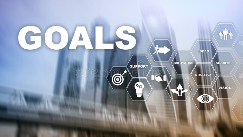 Concepto del gr?fico del logro de las expectativas de las metas de la blanco Desarrollo de negocios al ?xito y al crecimiento cad fotografía de archivo libre de regalías