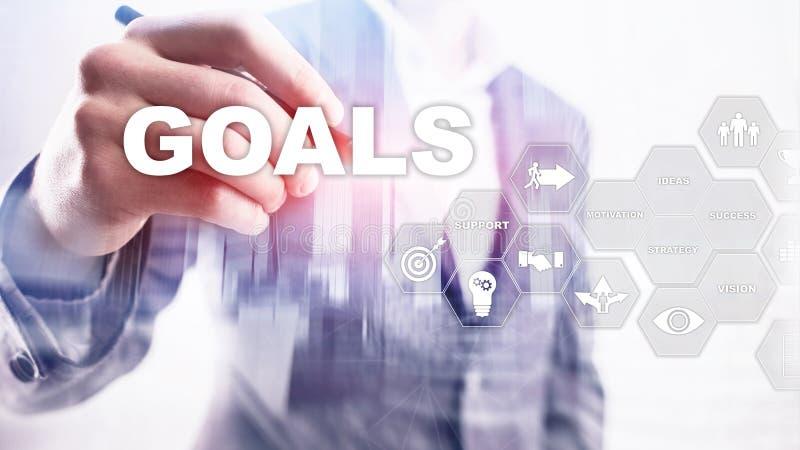 Concepto del gr?fico del logro de las expectativas de las metas de la blanco Desarrollo de negocios al ?xito y al crecimiento cad fotos de archivo libres de regalías