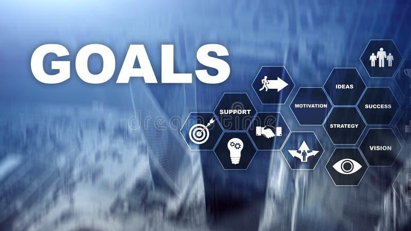 Concepto del gr?fico del logro de las expectativas de las metas de la blanco Desarrollo de negocios al ?xito y al crecimiento cad fotografía de archivo