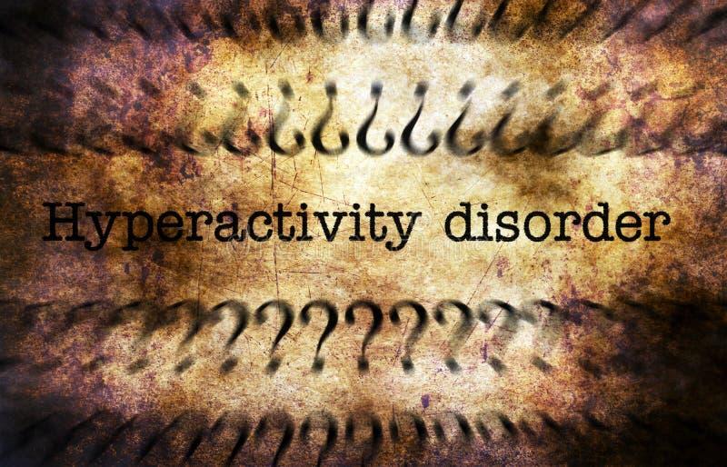 Concepto del grunge del desorden de la hiperactividad imagenes de archivo
