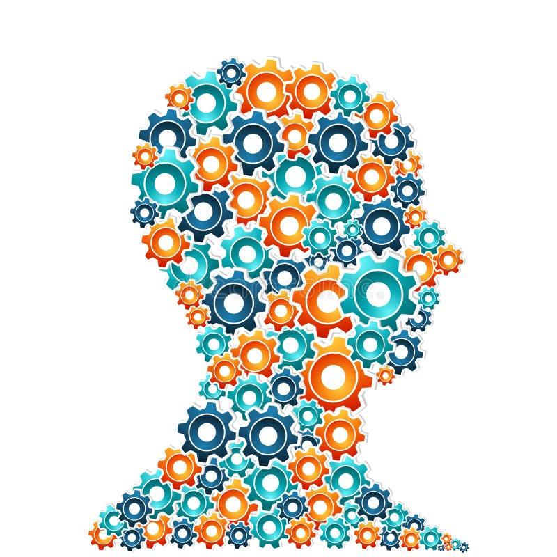 Concepto del hombre del pensamiento creativo stock de ilustración
