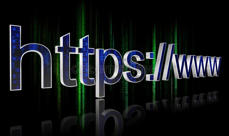 Concepto del HTTPS libre illustration