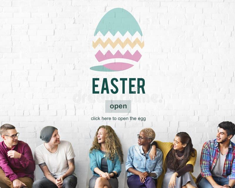 Concepto del huevo de Pascua Bunny Rabbit Spring Season Tradition foto de archivo libre de regalías
