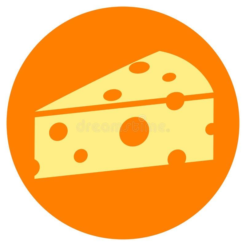 Concepto del icono del círculo del queso stock de ilustración