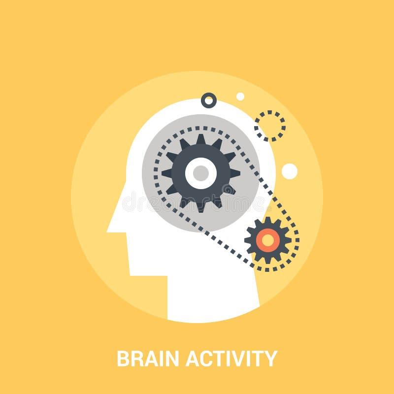 Concepto del icono de la actividad cerebral ilustración del vector