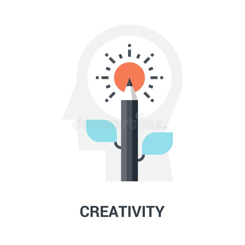 Concepto del icono de la creatividad foto de archivo