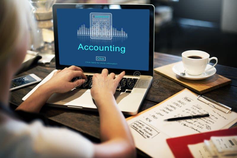 Concepto del icono de la economía del crédito del negocio de la contabilidad fotografía de archivo libre de regalías
