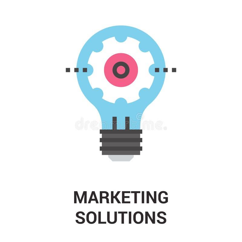 Concepto del icono de las soluciones del márketing libre illustration