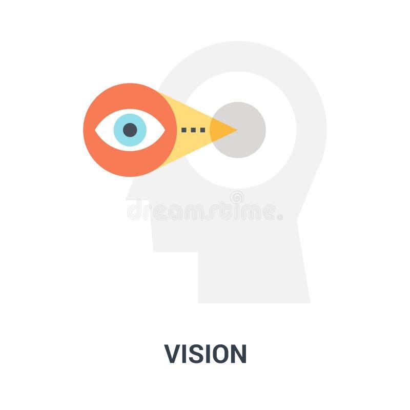 Concepto del icono de Vision imagenes de archivo