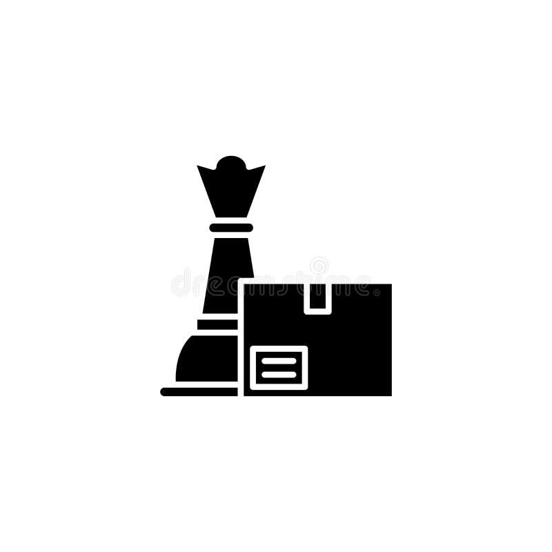 Concepto del icono del negro de la estrategia del producto Símbolo plano del vector de la estrategia del producto, muestra, ejemp libre illustration