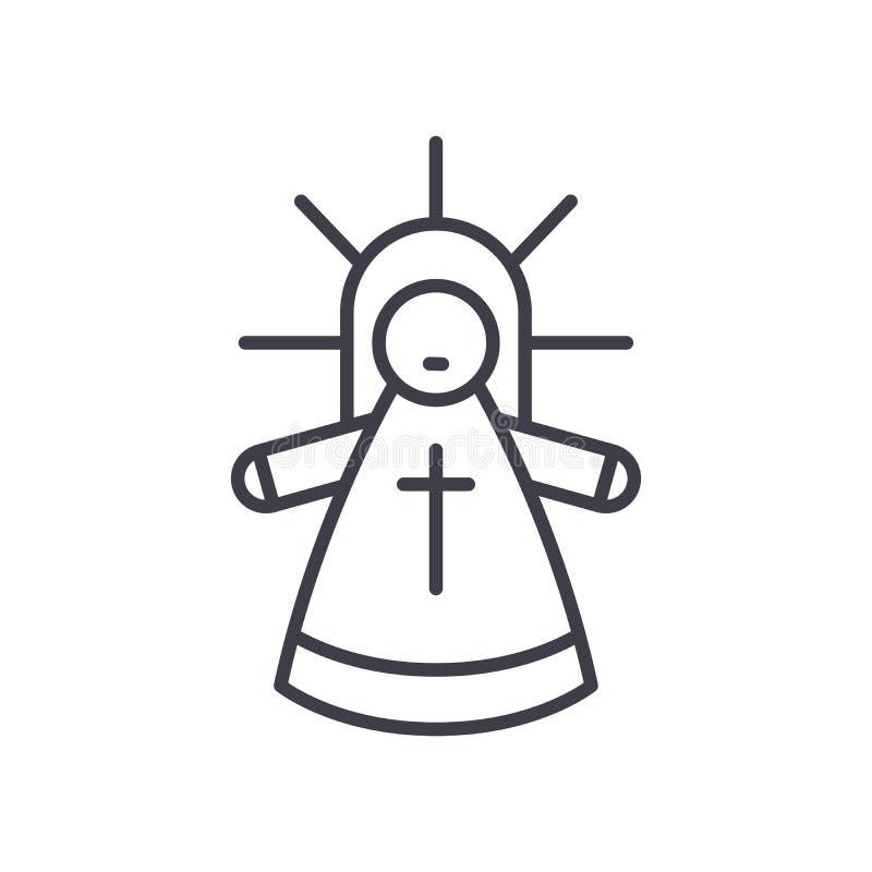 Concepto del icono del negro del hombre santo Símbolo plano del vector del hombre santo, muestra, ejemplo stock de ilustración