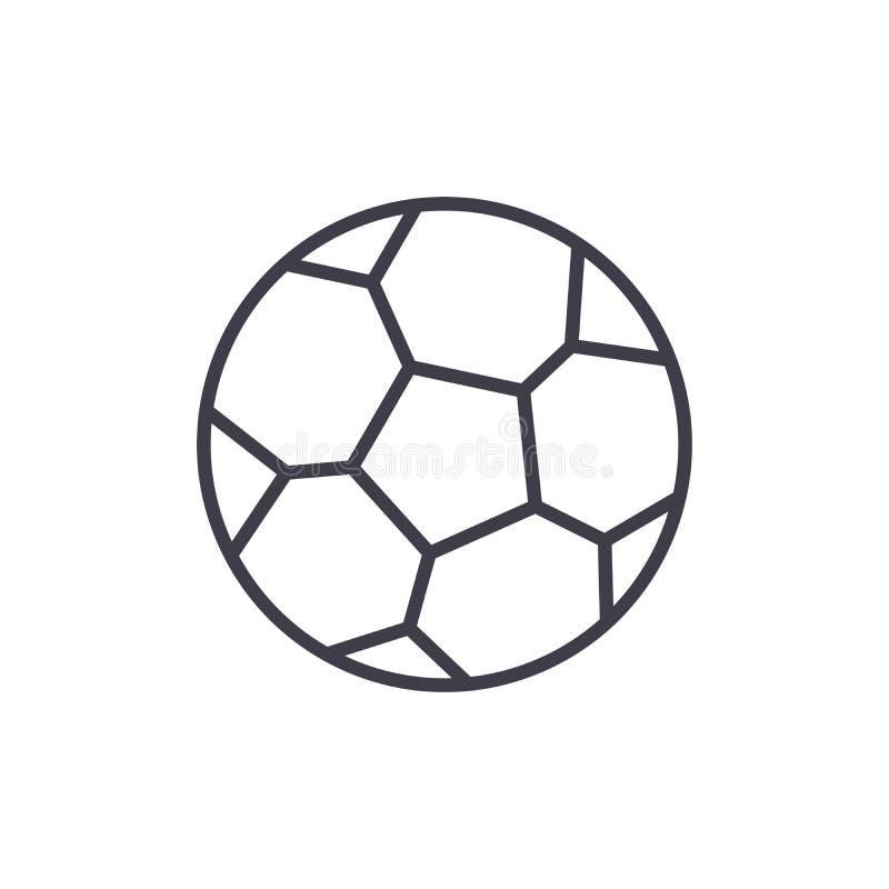 Concepto del icono del negro del juego de fútbol Símbolo plano del vector del juego de fútbol, muestra, ejemplo libre illustration