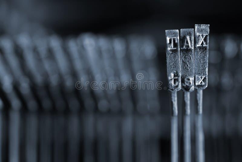 Concepto del impuesto imagen de archivo
