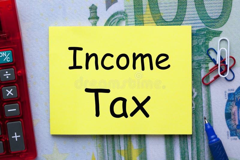 Concepto del impuesto sobre la renta fotografía de archivo