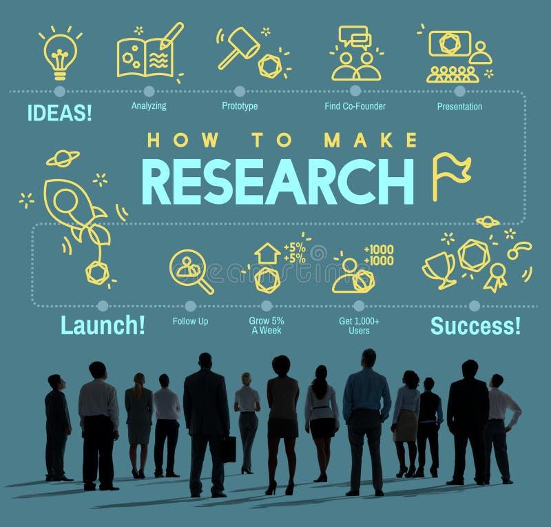 Concepto del informe de la reacción de la exploración del descubrimiento de la investigación imagen de archivo