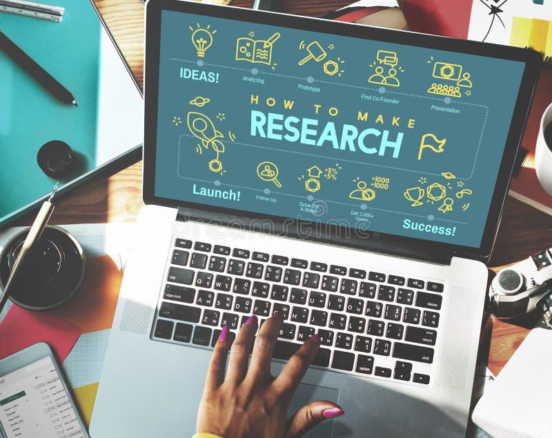 Concepto del informe de la reacción de la exploración del descubrimiento de la investigación imagen de archivo libre de regalías