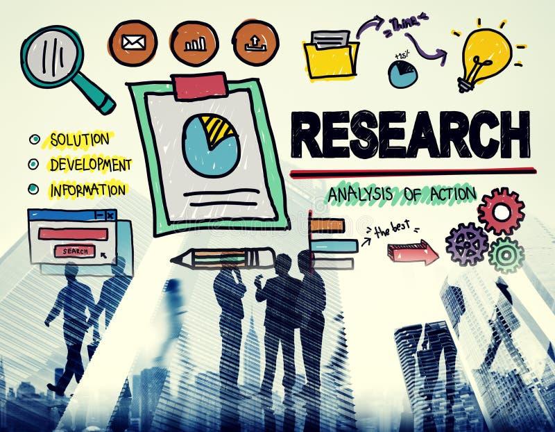 Concepto del informe de la reacción de los hechos de la exploración de la investigación ilustración del vector