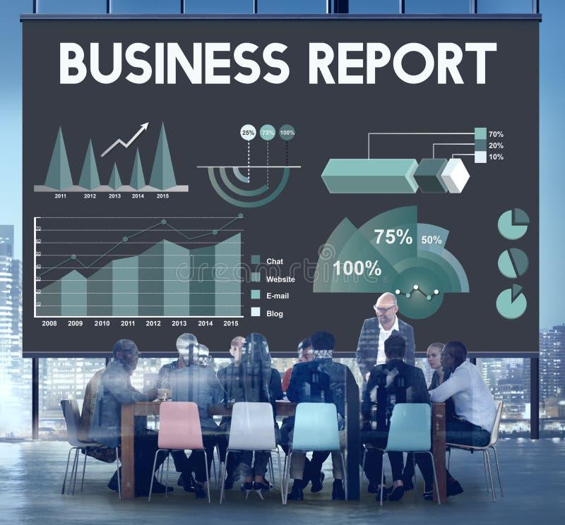 Concepto del informe de márketing del Analytics del informe de negocios foto de archivo