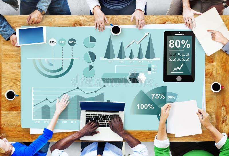 Concepto del informe de negocios del márketing del Analytics imagenes de archivo