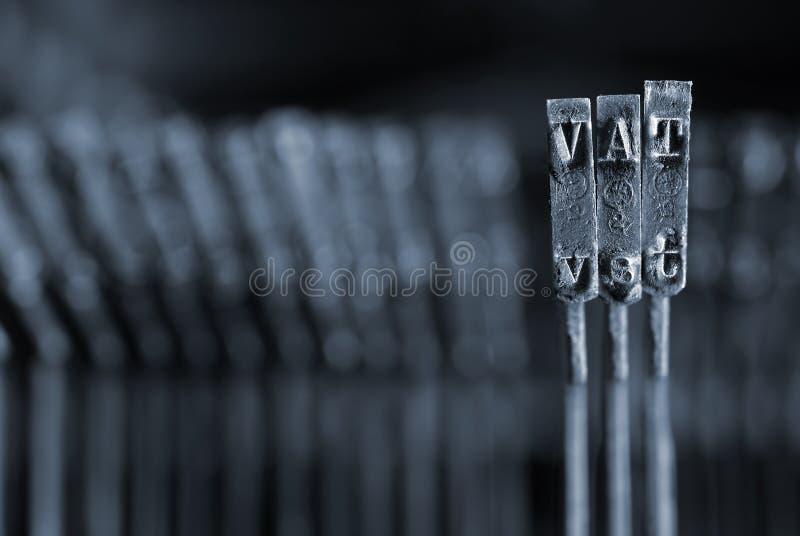 Concepto del IVA fotografía de archivo libre de regalías