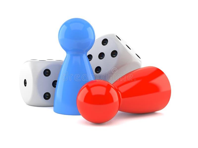 Concepto del juego de mesa stock de ilustración
