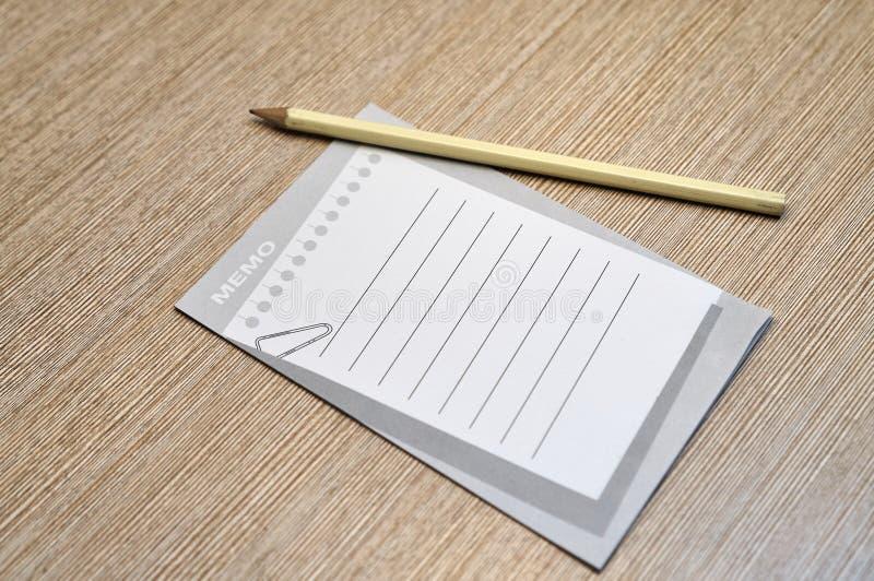 Concepto del lápiz y del cojín de nota imagen de archivo libre de regalías