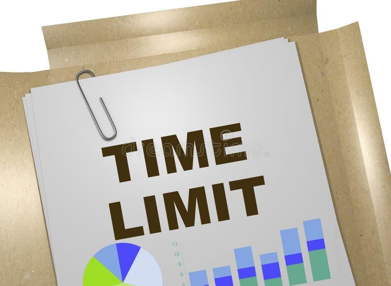 Concepto del límite de tiempo ilustración del vector