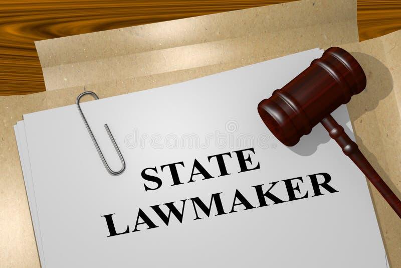 Concepto del legislador del estado stock de ilustración