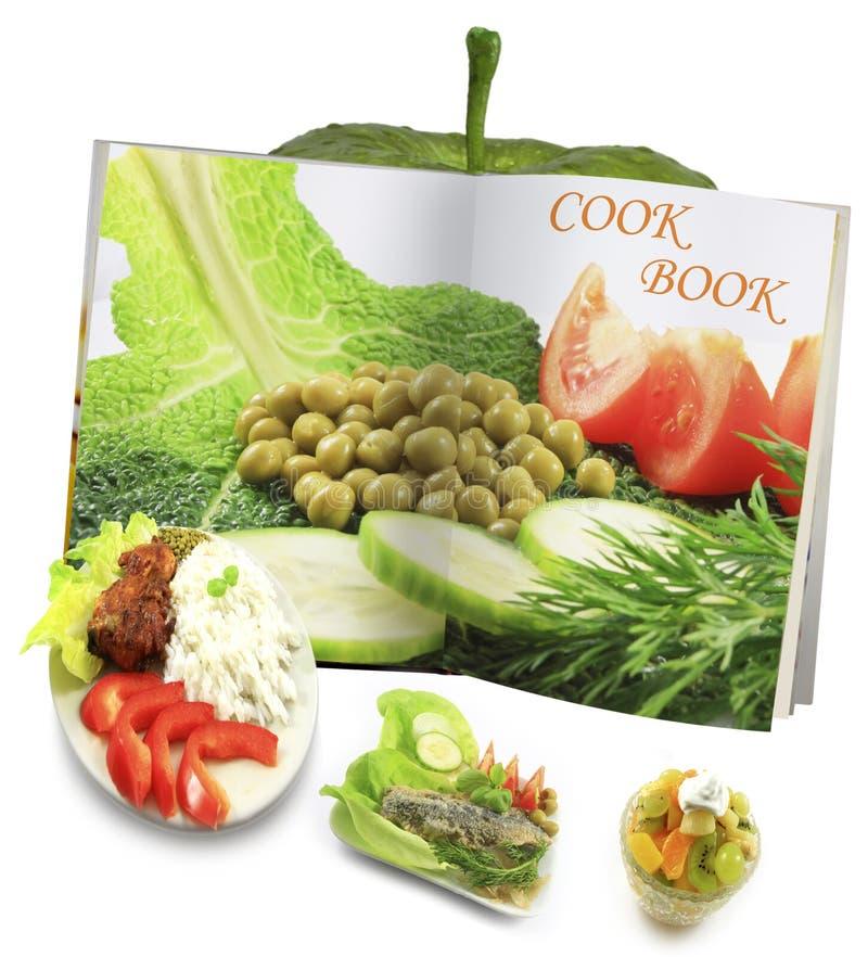 Concepto del libro de cocina imagen de archivo libre de regalías