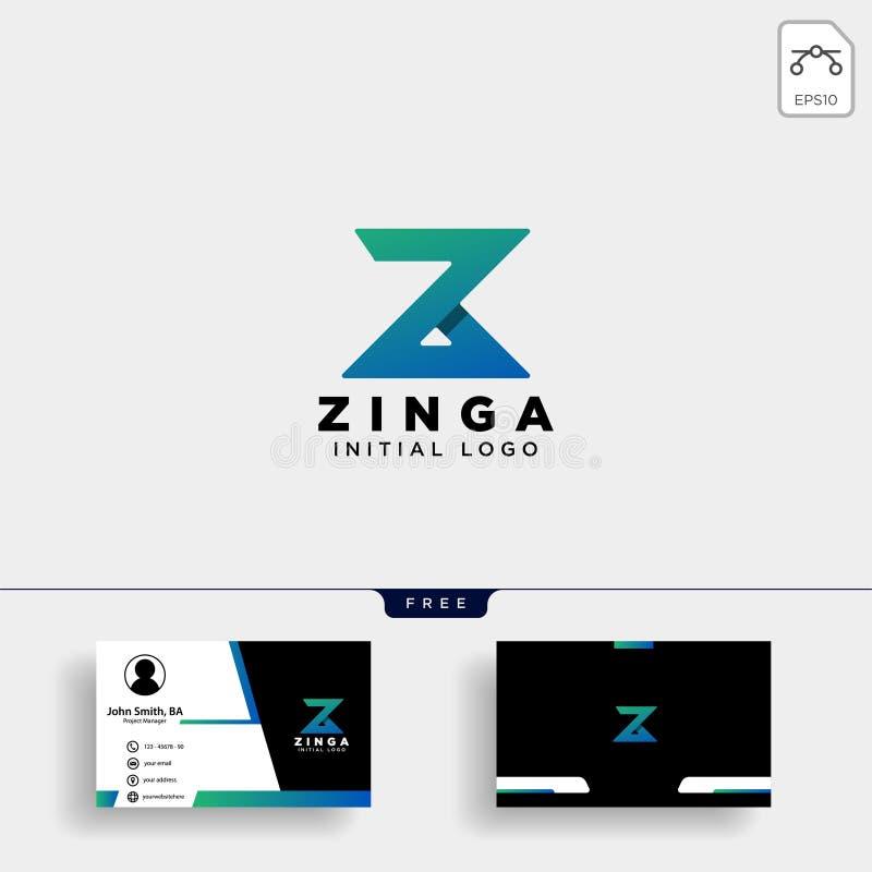 Concepto del logotipo de la letra de Z Monograma mínimo creativo stock de ilustración