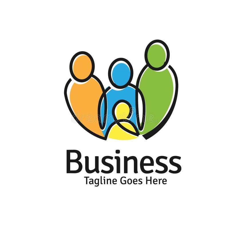 Concepto del logotipo de las familias libre illustration