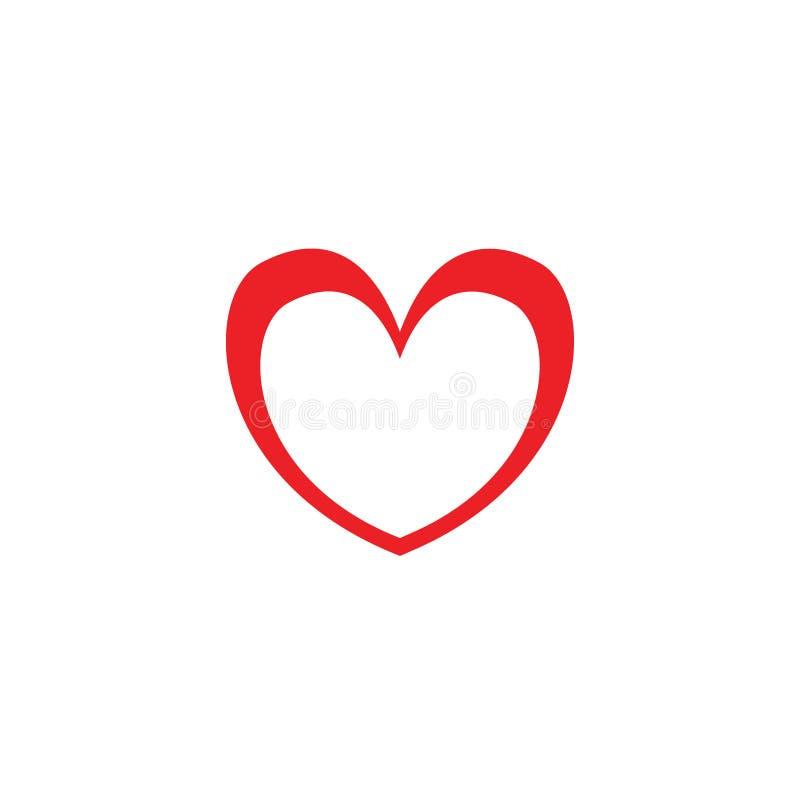 Concepto del logotipo de los ejemplos de la muestra del icono del amor/del coraz?n stock de ilustración