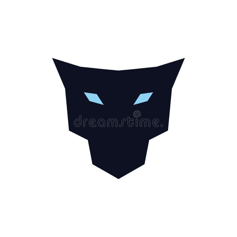 Concepto del logotipo del icono de la cabeza de Jaguar stock de ilustración
