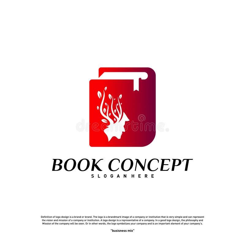 Concepto del logotipo del libro de la ciencia Gente de la naturaleza que aprende la educación Logo Design Template Vector Símbolo ilustración del vector