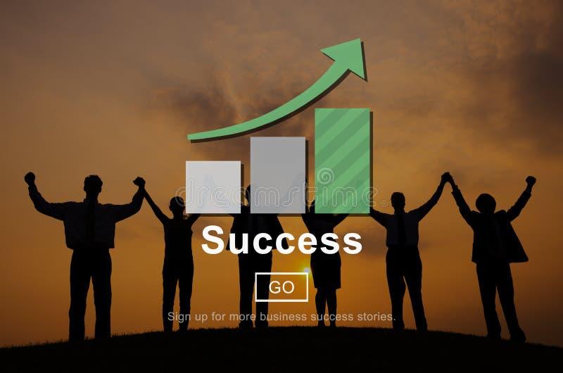 Concepto del logro de la realización de la excelencia del éxito imagen de archivo