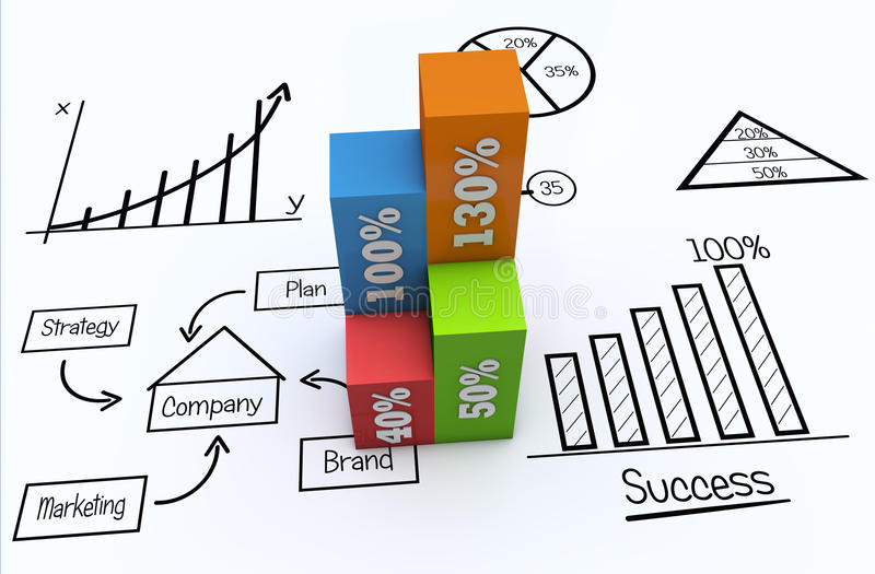 Concepto del márketing libre illustration