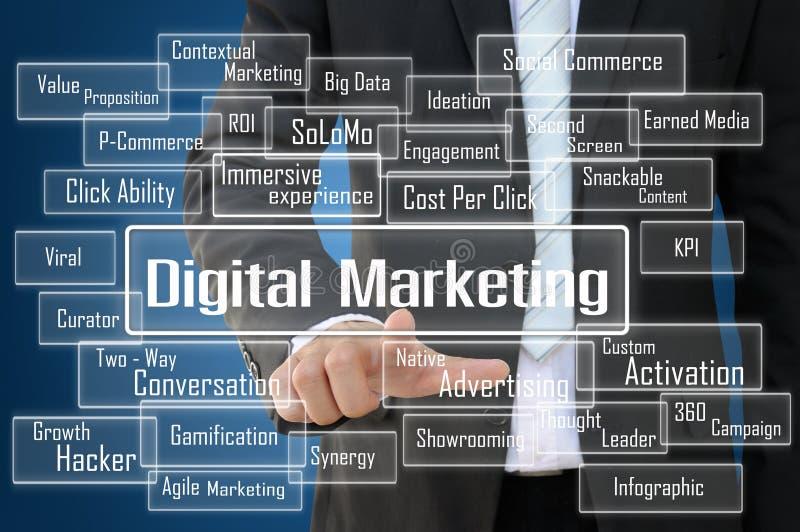 Concepto del márketing de Digitaces imagen de archivo