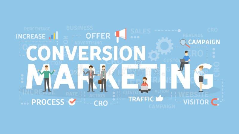 Concepto del márketing de la conversión stock de ilustración