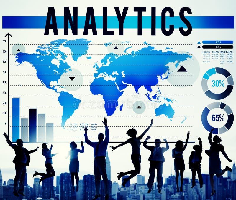Concepto del márketing de la estrategia del planeamiento del análisis del Analytics foto de archivo libre de regalías