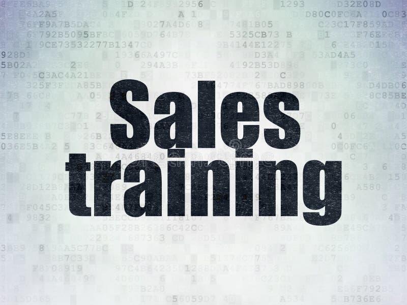 Concepto del márketing: Entrenamiento de ventas en fondo del papel de datos de Digitaces libre illustration