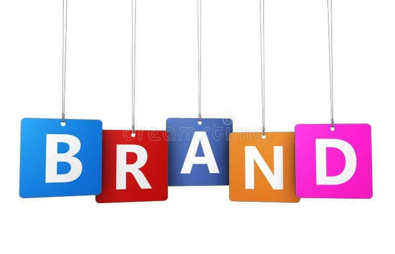 Concepto del marketing de marca stock de ilustración