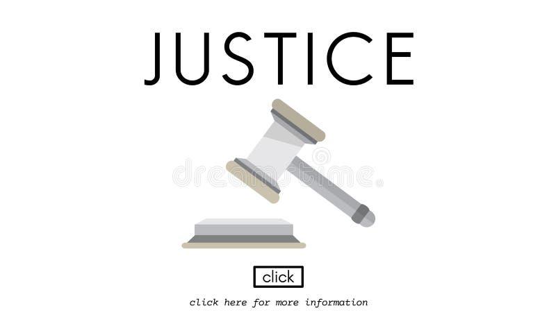 Concepto del mazo de la ley de Judgement Legal Fairness de la justicia del juez libre illustration