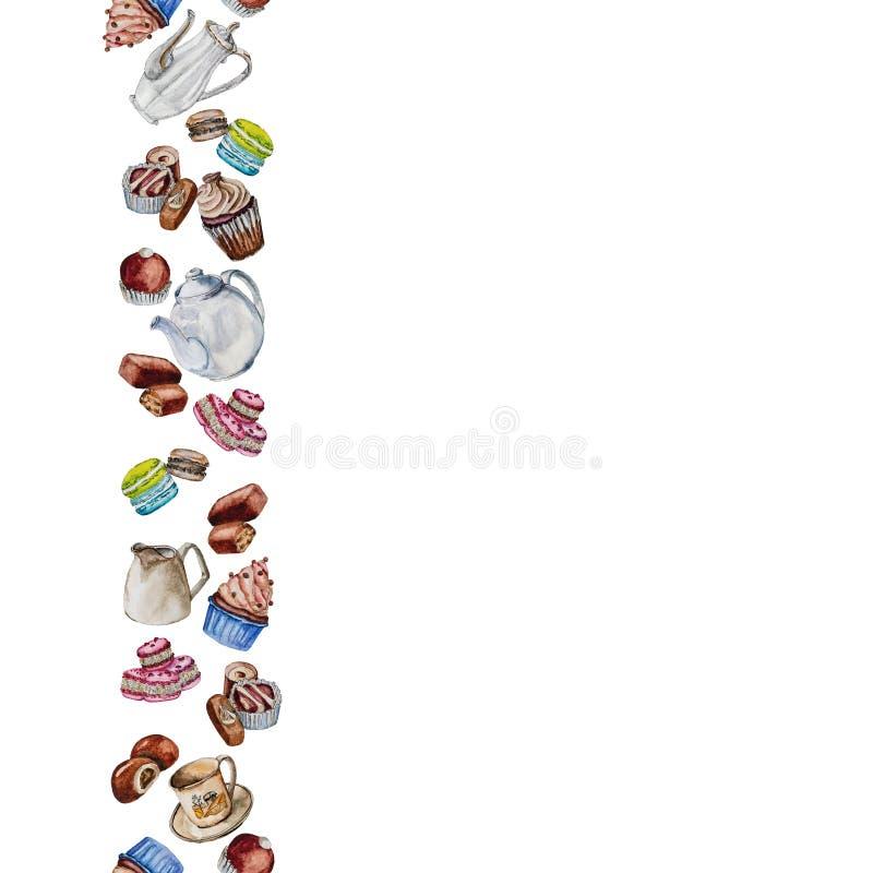 Concepto del menú del tiempo del té y del café fotos de archivo libres de regalías