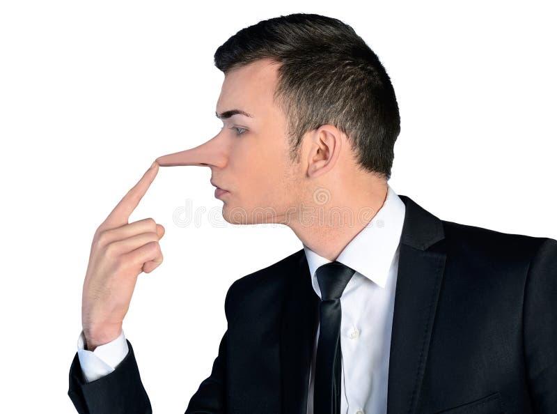 Concepto del mentiroso del hombre de negocios imágenes de archivo libres de regalías