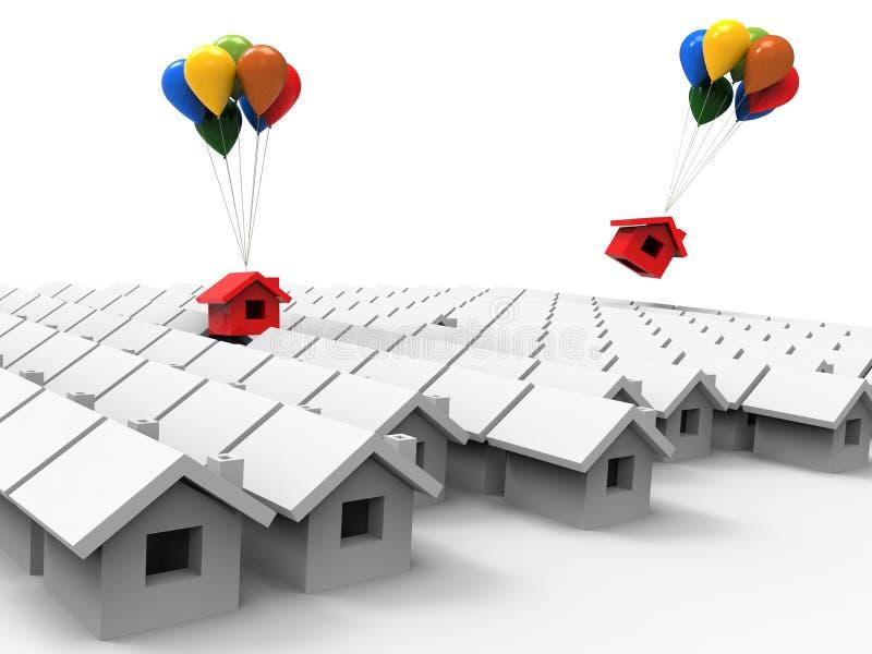 Concepto del mercado de la casa libre illustration