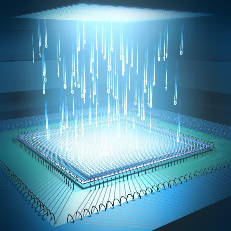 Concepto Del Microchip Imagenes de archivo