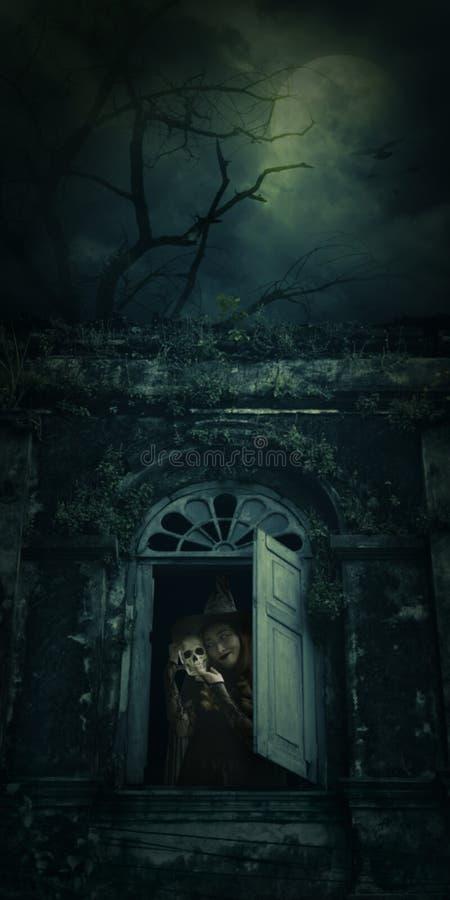 Concepto del misterio de Halloween imagenes de archivo
